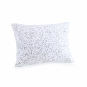 Jessica Simpson Cotton Medallion Gray Quilted